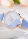 Fashion Simple Watch Changed Color Beautiful Flower Sunlight Quartz Wrist Watch