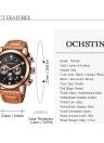 OCHSTIN 2017 Mode Cuir de luxe en cuir véritable Luminous Men Montre-bracelet