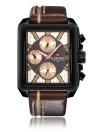 NAVIFORCE Relógio de luxo de homens de quartzo de couro genuíno