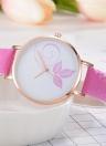 Reloj de pulsera de cuarzo de patrón de flores de moda simple cambio de color Reloj de pulsera de cuarzo de patrón de flores hermosa