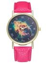 Nebulosa Assista Galaxy Via Láctea Espaço de Couro Relógio para As Mulheres Homens Assista Idéias Do Presente de Casamento de Aniversário T02