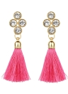 Women Fashion Rhinestones Wool Rope Tassels Earring Gorgeous Jewelry Retro Drop Earring