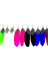 Stylish Long Feather Chandelier Dangle Eardrop Earrings