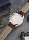 Romacci 5ATM resistente al agua del cuero auténtico de los hombres clásicos de la alta calidad del reloj del hombre del reloj análogo de cuarzo Reloj de pulsera con función date manos luminosas
