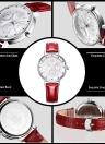 SK PU Leather Luminous 30M Water Resistant Women's Quartz Analog Watch