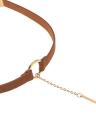 Art und Weise hängende lederne runde Choker Halskette