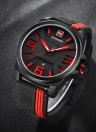 NAVIFORCE Moda Silicone Strap Sports Quartz Water-Resistant Men Watch