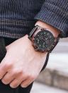 OCHSTIN Fashion Luminous Military Style Quartz Men Montre-bracelet