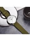 REBIRTH Fashion Cloth Men Relógios 3ATM Water-resistant Quartz Casual Mulheres Relógio de pulso simples Unisex Relogio Musculino Fenimino