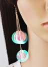 Fashion Retro Sequins Flower Earrings Exaggerated Petal Long Pendant Women Jewelry