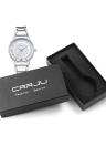 CRRJU Chic 3ATM diário Water Resistant Mulheres Moda relógio analógico simples elegante Lady Relógio de pulso para o cônjuge Amigos
