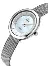 WWOOR Ultra Thin Fashion Luxury Brand Stainless Steel Mesh Women Relógios