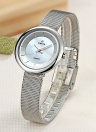 WWOOR Ultra Thin Fashion Luxury Brand Stainless Steel Mesh Women Watches
