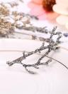 Moda Vintage retro lindo collar de la aleación de las astas hermosas ramas de la coleta Hairclip Clip Barrettes de la joyería de la garra Updo princesa Horquilla Novia Mujeres Niñas creativo para el cabello accesorios