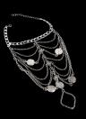 Pulsera de plata antigua punky de la señora Anklet del hueco del oro de la vendimia retra