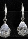 Zircon Cristal De La Boda Dangle Elegante Mujeres Clásicas Pendiente Flores