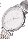 SK Simple Lady Watch correa de acero inoxidable impermeable reloj de cuarzo Casual