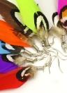 Ala de Angel pluma Linda lámpara gota larga cuelgan pendiente gotas mujeres chica joyas ornamento accesorio regalo de moda