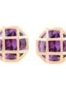 Moda Charme zircão cristal strass banhado a ouro Metal Cobre Ear Stud Brinco Jóias para Mulheres