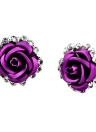 Mode Femmes Alliage Crystal Rhinestone Ear Stud Rose Gift Party Earrings