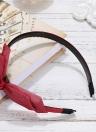 Модные двойные слои Цветочные лук Hairbands Корея Кролик Уши Запонки