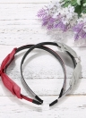 Fashion Double Layer Floral Bow Hairbands Korea Rabbit Ears Headband