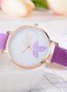 Moda Relógio Simples Mudança de Cor Luz Solar Relógio de pulso Quartz de Padrão de Flor Bonita