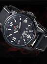 NAVIFORCE práctica 3ATM agua resistencia reloj PU cuero correa alta calidad reloj de cuarzo con función de fecha semana