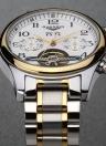 GUANQIN Relógio de couro genuíno resistente a água e homens de luxo GUANQIN