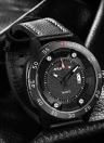 RISTOS 3ATM Relógios impermeáveis com relógio Casual Men Relógios Quartz