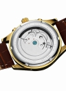 KINYUED Business Watch Automatic Mechanical Men Watches 3ATM Water-resistant Wristwatch Male Relogio Musculino