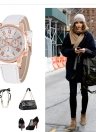 Mode Luxe PU Cuir Quartz Femmes Montres Vintage Style Lasies Casual Montre-Bracelet Feminio Relogio