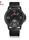 À prova de água Relógio de pulso 30M Casual NAVIFORCE 2016 Marca Moda Dupla Calendário de couro genuíno Man Quartz Men Relógios + Watch Box