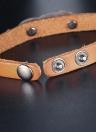 Bracelete de liga de couro natural de moda turquesa moda para mulheres homens