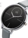 SK 2017 Moda Simplicidade Quartz Casual Relógio de pulso resistente à água PU Strap relógios femininos
