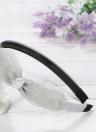 Moda de doble capa Floral Bow Hairbands Corea orejas de conejo Headband