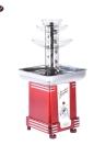Nostalgia RFF500 50s-Style 3-Tier Chocolate Fondue Fountain Machine for Wedding Birthday Party Hotel Home