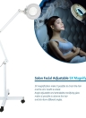 Salon Facial Adjustable 5X Magnifying Lamp Standing Mag Light Wheels Base