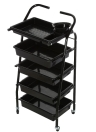 Hair Drawers Trolley Rolling Cart Salon Storage Hair Colouring Cart