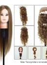 Formation Head 75% réel cheveux humains Mannequin Tête coiffure Dummy tête Salon tête + Porte-Clamp cheveux pour la pratique des cheveux