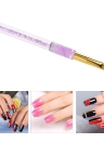 1pc Nail Art UV Gel Painting Art Gradient Color Acrylic Nail Pen Brush