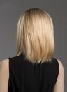 Médio Long Straight Cabelo Humano Black Yellow Wig