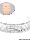 Medida de la ceja del maquillaje 1pc Regla Permanente herramienta de tatuaje de cejas y estética de la talladora de la ceja del maquillaje Regla reutilizable