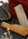 Mini Foldable Hair Comb Men's Beard Comb Natural Horn Comb Anti Static Wide Teeth Massage Comb Hair Health Care Horn Comb
