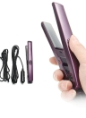 12V / 110-240V Professional Mini 2 In1 Flat Iron Portable Vehicle Electronic Ceramic Hair Straightener Car / EU Plug