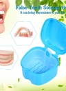Prothese Bad Box Fall Dental False Teeth Aufbewahrungsbox Reinigung Container