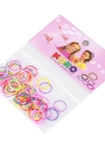 12 Sacos / 1200Pcs Elastic Hair Bands Rings Cordas descartáveis ​​Rubber Band Candy Color Hair Accessory Ponytail Holder