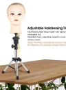 Adjustable Hairdressing Tripod False Head Holder Hairdresser Training Head False Head Stand Hair Wig Mold Clamp
