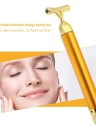 High Frequency Vibration 24K Gold Plated Energy Beauty Bar Massager Anti-aging Face Eye Wrinkle Eraser Firming Roller Stick