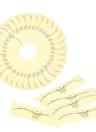 Etiqueta de régua descartable de sobrancelha 50pcs Etiqueta exata adesiva da régua de microblação da sobrancelha